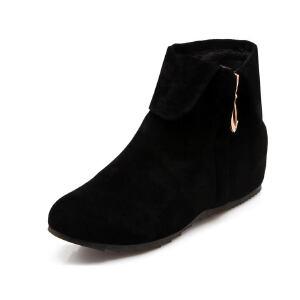 ELEISE美国艾蕾莎新品秋冬189-F4韩版磨砂绒面内增高女士短靴