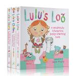 英文原版绘本 儿童精装触摸操作书 露露 Lulu系列 3册套装 幼儿启蒙认知亲子互动英文版 Lulu's Loo Lu