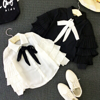 儿童装女童长袖白色衬衫春秋装宝宝衬衣韩版百搭2018新款D914 O