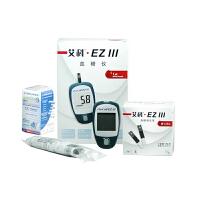 艾科家用血糖试纸EzⅢ型血糖仪试纸(简装)50片(带针) 赠送血糖仪