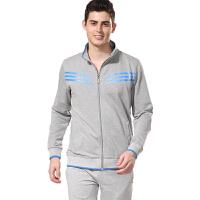 秋款套装男装运动服两件套装 户外运动长袖跑步青年运动服 羽毛球球服