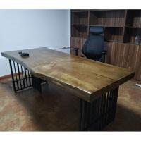 实木办公桌会议桌长桌北欧洽谈桌书桌长条大型桌子经理老板桌 否