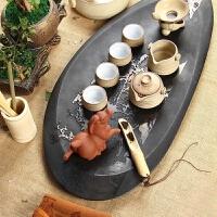 尚帝 整套茶具 乌金石茶盘茶具套装 陶瓷紫砂功夫茶具套装2014WHTZ6K