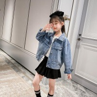 女童牛仔外套春装儿童小女孩童装中大童夹克