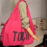 字母大包多口袋妈咪包袋时尚多功能休闲书包防水尼龙包旅行包女包