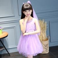 3-6�q�和�夏�b4女童�B衣裙5小女孩裙子7夏季8�n版9中大童衣服12 �\紫色 �^�款