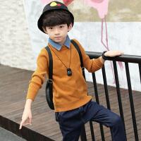 童装男童毛衣秋冬装儿童打底衫圆领男孩韩版套头针织衫潮