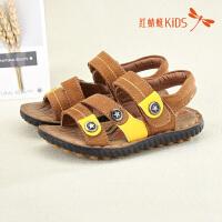 红蜻蜓童鞋夏季新款露趾透气舒适沙滩鞋男童儿童凉鞋511L62312X