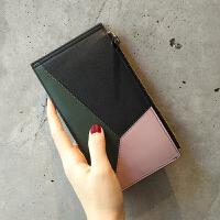 卡包女式多卡位卡片包女士钱包长款2018新款时尚潮多功能 黑色 现货
