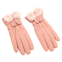 棉手套女冬季加厚保暖可爱韩版加绒防寒骑行开车滑雪触屏羽绒手套新品 均码