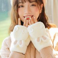 手套女冬天加绒学生时尚可爱萌韩版潮卡通加厚毛绒ins 骑行保暖棉冬季