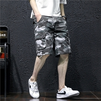 迷彩短裤男修身夏季休闲工装五分裤子青年大码宽松沙滩裤