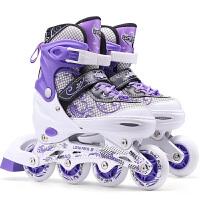 成人溜冰鞋直排轮滑鞋男女儿童全套装初学者旱冰闪光轮