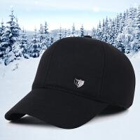 男士帽子冬季中老年加厚保暖棒球帽护耳帽户外休闲鸭舌帽