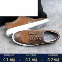 潮牌夏季新款男鞋子 英伦复古皮鞋布洛克雕花板鞋 韩版潮流男士休闲鞋