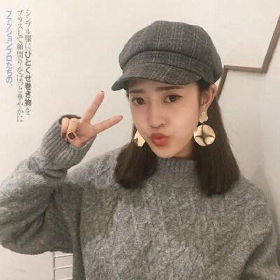 甜美可爱软妹毛呢蓓蕾帽子 日系百搭八角帽英伦贝雷帽 韩版女士鸭舌帽 品质保证 售后无忧
