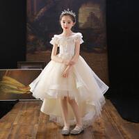 儿童主持人花童公主裙小女孩蓬蓬女童钢琴演出服夏季