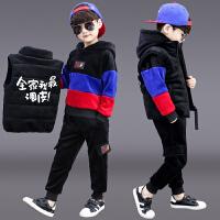 儿童洋气衣服男孩运动帅气三件套潮童装男童冬装套装