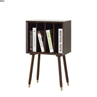 现代简约小书柜日式客厅储物柜沙发边柜新品置物架北欧实木杂志柜 杂志柜 0.6米以下宽