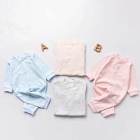 婴儿连体衣服0岁3个月3宝宝5新生儿冬季冬装潮款童内衣睡衣