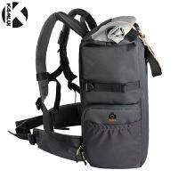 单反相机摄影双肩背包6d佳能80d尼康d7100户外5d4相机袋 灰色