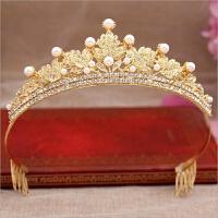 金色皇冠�^��和��l�公主水�@小孩�l箍女童大王冠小朋友生日�Y物 金色