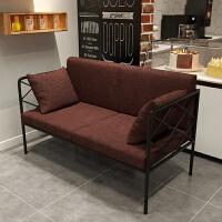 铁艺咖啡厅卡座沙发双人网红休息区休闲酒吧西餐厅奶茶店桌椅组合 官方标配