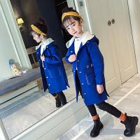 女童呢子外套韩版秋冬装大童洋气中长款童装儿童毛呢大衣
