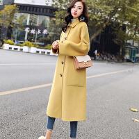 毛呢大衣 女士中长款风衣2020冬季新款韩版女式翻领呢子大衣学生大码宽松长袖外套