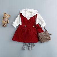 春秋女童韩版公主背心裙子套装女宝宝洋气时尚春装2婴儿衣服1-3岁