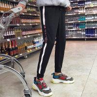 社会人裤子男春秋新款修身精神小伙束脚运动裤小脚个性潮流休闲裤