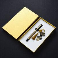 复古典中国风青铜签字笔64gu盘套装 金属创意高档男士女士礼物 公司会议年会商务礼品定制logo刻字送客户
