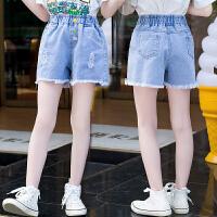 女童牛仔裤夏季时尚儿童短裤薄款夏装中大童百搭裤子