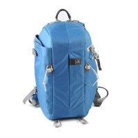 驼盟双肩单反相机包单反背包 轻盈防盗旅行摄影包带内胆 天蓝色