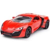 1:32迪拜莱肯跑车合金车声光回力仿真车模儿童玩具车模型