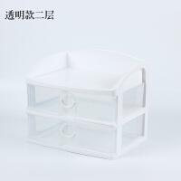 办公桌收纳储物盒a4纸文件整理箱抽屉式桌面收纳盒塑料化妆品盒子
