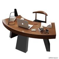 北欧实木办公桌简约现代老板桌电脑台式桌家用LOFT工业风创意书桌