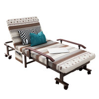 午休折叠床单人床双人办公室午休便携1.2米行军陪护午睡躺椅简易