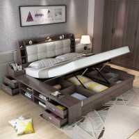 【满减优惠】气动高箱储物床1.8米1.5m1.35主卧床 抽屉收纳板式现代简约双人床