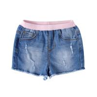 小猪班纳童装女小童2020夏装新款时尚短裤子女宝宝牛仔短裤潮