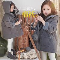 2017新款冬装女童韩版加厚棉衣中大儿童保暖连帽棉袄宝宝外套