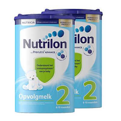 【2段】保税区发货 荷兰牛栏 Nutrilon诺优能 婴幼儿奶粉 二段(6-10个月) 800g*2罐 海外购 新老包装随 机发货