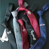 哲曼琪 新款刺绣休闲青年领带男士绣花韩版英伦窄式5领带潮男领带
