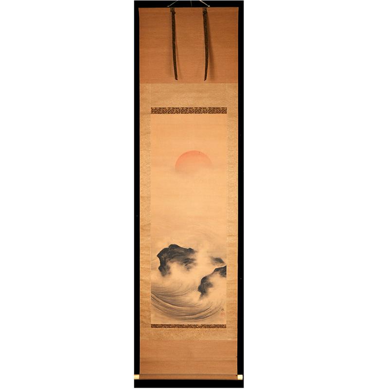 S3109  佚名 《日落》(日本回流,日式装裱)