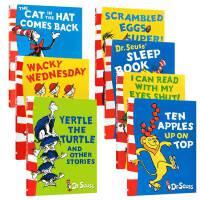 英文原版儿童绘本 Dr. Seuss苏斯博士经典7本套装 the cat in the hat Comes Back Ten Apples Up on Top