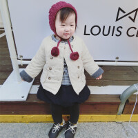 冬季男女儿童加绒婴幼儿童装短款加厚小孩棉衣宝宝外套外出服