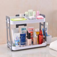 浴室置物架简约洗漱台面收纳架子储物多层架塑料厨房多功能整理架