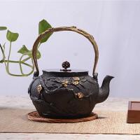春暖花开铁壶茶具无涂层仿日本铸铁壶南部生铁壶烧水壶电陶炉茶炉铸铁电茶炉茶具光波电磁炉茶具