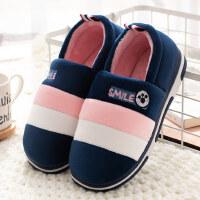 简约防滑保暖情侣棉鞋冬天时尚包跟室内居家棉拖鞋女