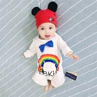 婴儿连体衣服冬季新生儿满月宝宝0岁6个月2季冬装装睡衣